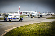Airlines Photo Originals - Waiting in line by Chris Smith