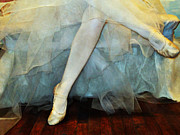 Ballet Art Prints - Waiting In The Wings Print by Angelina Vick