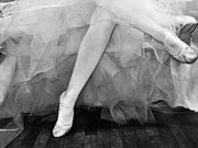Ballet Art Prints - Waiting In The Wings BW Print by Angelina Vick