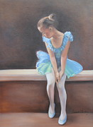 Anxious Paintings - Waiting in the Wings by Susan Bradbury