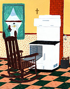 Little Boy Posters - Waiting on Cold Toes Poster by Barbara Griffin