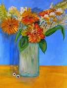 Flower Still Life Prints Prints - Waiting On Springtime Print by Everette McMahan jr