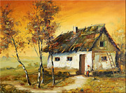 Romania Paintings - Waiting by Petrica Sincu