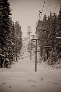 Cari Gesch Metal Prints - Waiting Ski Lifts Metal Print by Cari Gesch