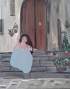 Villa Paintings - Waiting by Susan Snow Voidets