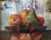 Fruit Still Life Framed Prints - Waiting To Be Eaten Framed Print by John Henne