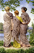 Togas Posters - Waiting To Cross Poster by Albert Joseph Moore