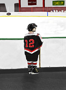 Hockey Digital Art - Waiting to Play by Robert Hubert