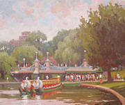City Scape Originals - Waiting to Ride the Swans by Dianne Panarelli Miller