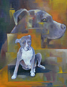 Staffordshire Paintings - Waiting to Save My Human by Melissa Peterson