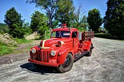 Fire Trucks Framed Prints - Waitsfield Fire Department Framed Print by Mel Steinhauer