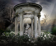 Night Angel Digital Art Prints - Wake Up My Sleepy White Roses - Sunlight Version Print by Bedros Awak