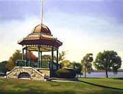Bandstand Paintings - Wakefield Bandstand by JJ Long