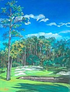 Golf Pastels - Walden on Lake Conroe Hole 8 by Frank Giordano