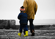 Unconditional Love Prints - Walk alongside me Daddy Print by Terri  Waters