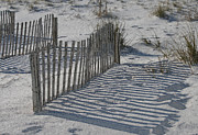 Sand Fences Posters - Walk Around Lifes Barriers Poster by Kathleen Scanlan