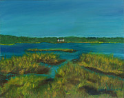 Cape Cod Paintings - Walk by Lewis Pond Cape Cod by Viola Holmgren