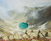 Beautiful Scenery Paintings - Walk in The Clouds by Kiril Stanchev