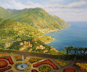 Amalfi Paintings - Walk in The Garden of The Gods by Kiril Stanchev