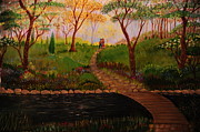 Pathway Paintings - Walk In The Park by Katherine Hall