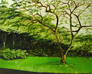 Sherry Robinson Art - Walk in Waimea Valley by Sherry Robinson