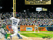 Detroit Tigers Drawings - Walk off by Geoff Hinkley