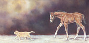 Foal Paintings - Walk This Way by Linda Shantz