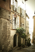 Streets Of France Posters - Walk Through Villefranche Poster by Julie Palencia