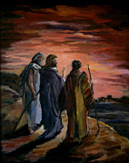 Emmaus Paintings - Walk to Emmaus by Carole Foret