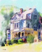 Haunted House Digital Art - Walker - Ames House by Bob Galka