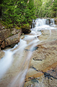 Granite Bedrock Photos - Walker Brook Cascades - Franconia Notch State Park New Hampshire by Erin Paul Donovan