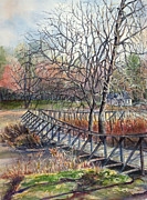 Janet Felts Painting Metal Prints - Walking Bridge Metal Print by Janet Felts