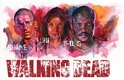 Television Paintings - Walking Dead Dead by Ken Meyer jr