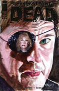 Television Paintings - Walking Dead Governor Andrea by Ken Meyer jr