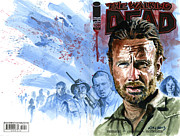 Walking Dead Paintings - Walking Dead by Ken Meyer jr