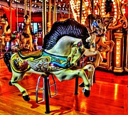 Carousel Horse Framed Prints - Walking Distance Framed Print by Benjamin Yeager