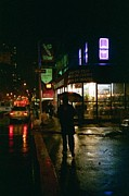 News Stand Prints - Walking Home in the Rain Print by Miriam Danar