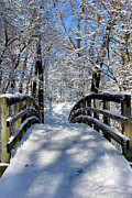 Snow . Bridge Posters - Walking in a Winter Wonderland Poster by Kristin Elmquist