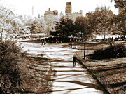 Central Park Photo Posters - Walking in Central Park Poster by John Rizzuto