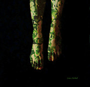 Toes Digital Art - Walking In Clover by Donna Blackhall