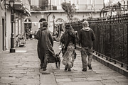 Dog Walking Photo Prints - Walking in New Orleans Print by John McGraw