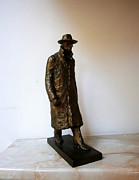 Featured Sculpture Prints - Walking man Print by Nikola Litchkov