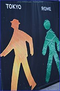 Christmas Symbols Prints - Walking man symbol Print by Sonali Gangane