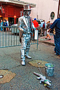 Street Photography Digital Art - Walking the Gator Bourbon St. NOLA by Kathleen K Parker