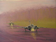 Aviation Study Paintings - Walking the Plank by Pib