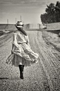 Cowgirl Mixed Media - Walking the road less traveled by Todd and candice Dailey