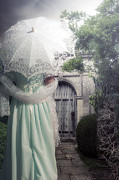 Shawl Photos - Walking to the gate by Joana Kruse
