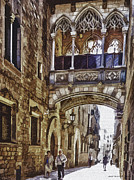 Gotic Digital Art Posters - Walking Trhough History Poster by Pedro L Gili