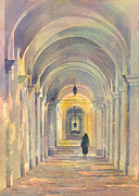 Nuns Painting Prints - Walking with God Italy Print by Alan Reed