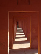 Bill Mock Metal Prints - Walkway by the Taj Metal Print by Bill Mock